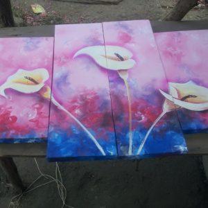 4-panel-flower-art