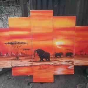 5-panelsunset-elephant