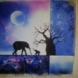 nature-elephant-moon