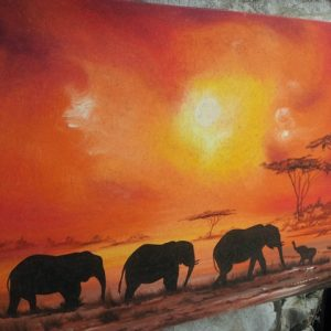 sunset-three-elephant